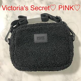 Victoria's Secret - 新品 PINK ボア 黒 ショルダーバッグ ボディバッグ
