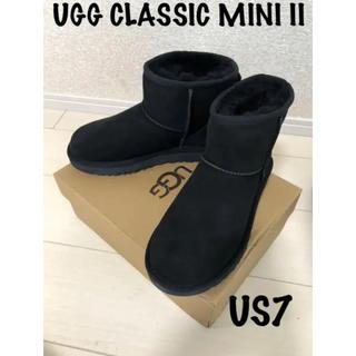 UGG - 正規品UGG アグ クラッシックミニII US7 24cmブラック