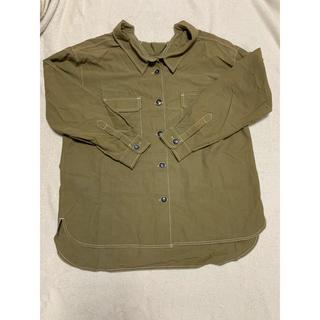 ローズバッド(ROSE BUD)の*ローズバッド カーキシャツ ゆったり*(シャツ/ブラウス(長袖/七分))