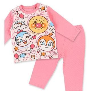 アンパンマン - アンパンマン 80cmキルト長袖パジャマ ピンク 女の子