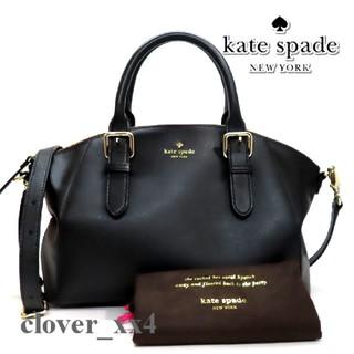 ケイトスペードニューヨーク(kate spade new york)のケイトスペードショルダーバッグ 美品 ブラック レザー kate spade(ショルダーバッグ)
