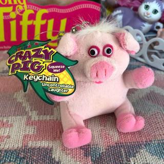 スパンク(Spank!)のCRAZY PIG タグ付!ぶたさんキーホルダー(キャラクターグッズ)