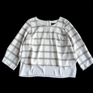 ヒロココシノ(HIROKO KOSHINO)のHK WORKS LONDON ヒロココシノ グラフチェック 裾シフォン (シャツ/ブラウス(長袖/七分))
