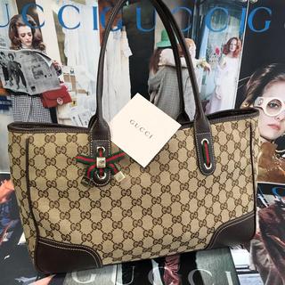 Gucci - 【正規品】GUCCI シェリーGG リボン バッグ 『肩掛け可能』A4収納可