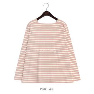 dholic - DHOLIC♡ボーダースクエア長袖Tシャツ
