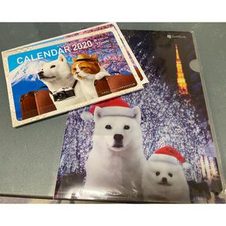 ソフトバンク(Softbank)のお父さん犬 卓上カレンダー クリアファイル (ノベルティグッズ)