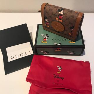 Gucci - グッチ Disney ミッキー コラボ限定 ウォレット折財布