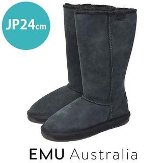 エミュー(EMU)の美品❤️エミュオーストラリア ムートン ロングブーツ JP24cm(ブーツ)