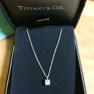 Tiffany & Co. - ☆ティファニー Pt950 ソリティア ダイヤ ネックレス☆