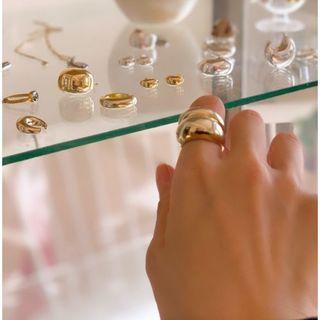 ドゥーズィエムクラス(DEUXIEME CLASSE)の13号★新品LAVER SMALL R RING★ゴールド(リング(指輪))