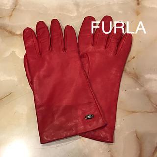 Furla - 【使用1回のみ・美品】FURLA  革手袋 レザーグローブ 20cm