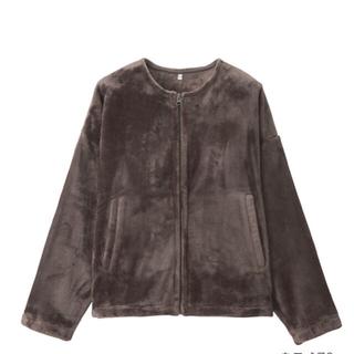 MUJI (無印良品) - 無印 無印良品 あたたかファイバー 着る毛布 ノーカラー ジャケット