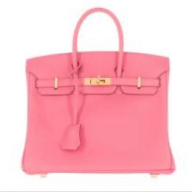 Hermes(エルメス)の新品 エルメス バーキン25 ローズ アザレ ピンク レディースのバッグ(ハンドバッグ)の商品写真