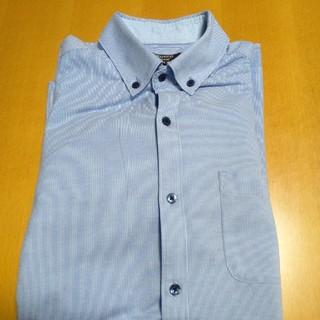 オリヒカ(ORIHICA)のオリヒカ ニットシャツ ジャージ ポロ ブルーストライプ(シャツ)