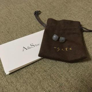 agete - アガット 2018限定 ラブラドライト ピアス K10 agete