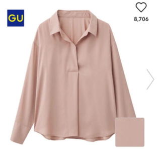 GU - エアリースキッパーシャツ ピンク  GU ジーユー