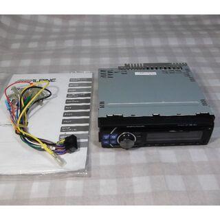 アルパイン CDE-121J(CD、USB、AUX)動作品 5千km【送料込】(カーオーディオ)
