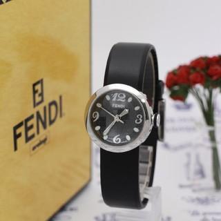 FENDI - 正規品【新品電池】FENDI 8010L/ブラック ドーム型 ラバー