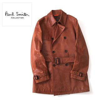 Paul Smith - PaulSmith collection ラムレザー トレンチコート