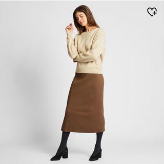 ユニクロ(UNIQLO)の新品★ユニクロ メリノブレンドスカート  XL(ひざ丈スカート)