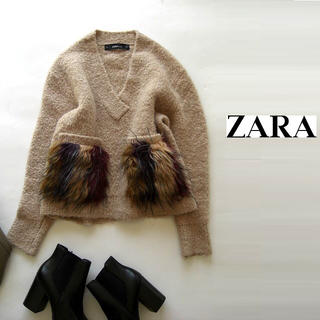 ZARA - ZARA/ポケットファーニット
