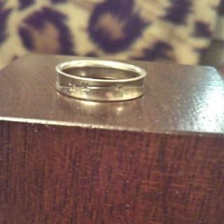 k5 ホワイトゴールド製ダイヤモンド付リング 8号 (リング(指輪))