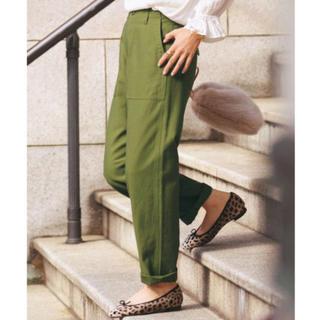 グリーンレーベルリラクシング(green label relaxing)のUNITED ARROWS バックサテン カーゴパンツ ベーカーパンツ(ワークパンツ/カーゴパンツ)