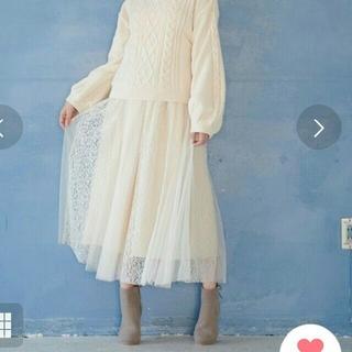 【タグ付き新品】MAJESTIC LEGON チュールレースドッキングスカート