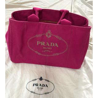 PRADA - 希少♡レアカラー PRADA  CANAPA FUXIA トートバッグ