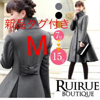 RUIRUE BOUTIQUE バックリボンフィット&フレアコート M