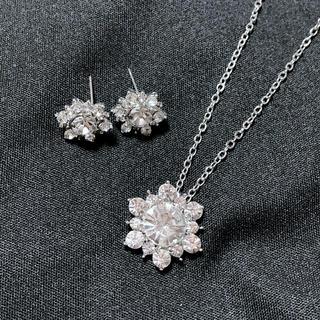 HARRY WINSTON - 【高品質】レディース サンフラワーモチーフ czダイヤモンド 2点セット