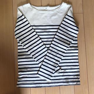 MUJI (無印良品) - 無印良品 ボーダー Tシャツ レディース