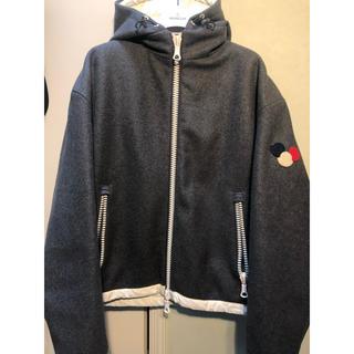 MONCLER - 美品 モンクレール ダウンジャケット ウール グレー サイズ1 パーカー