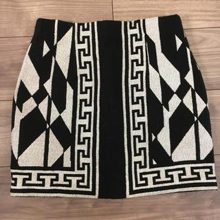 ZARA - ZARA スカート 柄 モノトーン ザラ