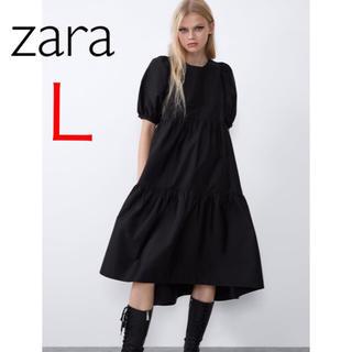 ZARA - 新品 ザラ L  アシンメトリー  ポプリン ワンピース 安室奈美恵 さん