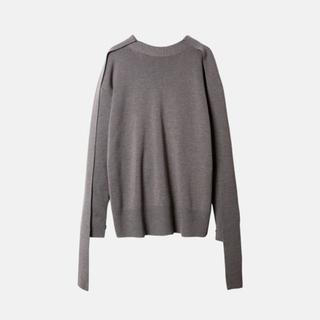 ルシェルブルー(LE CIEL BLEU)のIRENE ★ Merino Wool Knit Tops ★グレー ★アイレネ(ニット/セーター)