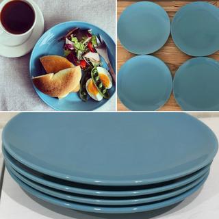 IKEA - 【IKEA】食べ物が映える‼︎ 大人気ターコイズブルー 21cmプレート4枚