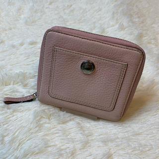 COACH - 正規品 美品 COACH コーチ レザー ピンク ワンポイント 折り財布