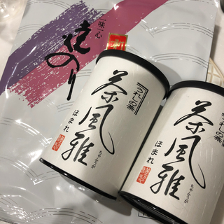 茶風雅ほまれ2缶と海苔セット!