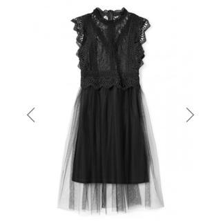 GRL - GRL レース×チュールドッキングワンピース ブラック 黒 韓国ファッション