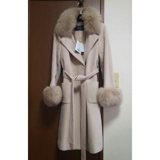 JUSGLITTY - 新品タグ付き。衿ファー付きポケットファーコート