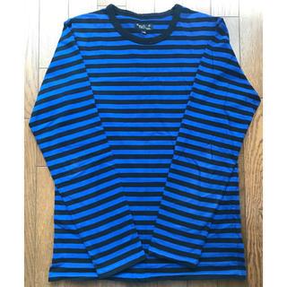アニエスベー(agnes b.)のagnes b アニエスベー ボーダーロングTシャツ ブルー/ブラック(Tシャツ/カットソー(七分/長袖))