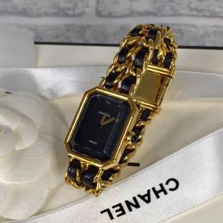CHANEL - 大人気❤️CHANEL プルミエール 腕時計 レディース ゴールド レザー 黒