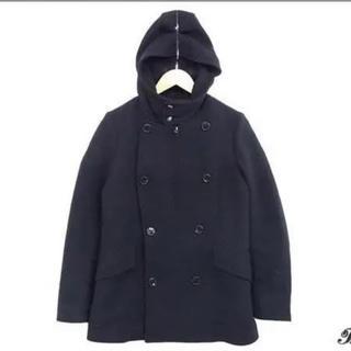 ZUCCa - 【値下げ】zucca フード付きウールPコート ブラック