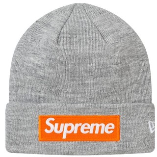Supreme - Supreme 17AW ボックスロゴ ビーニー ニット帽ふ  グレー