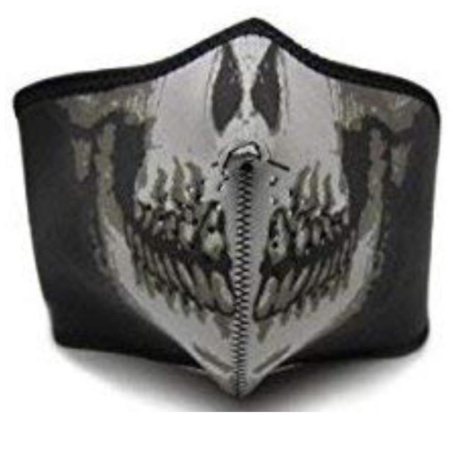 シートマスクオーガニック,スカルフェイスマスク[サバゲーオートバイスノボ他]ハーフマスクの通販