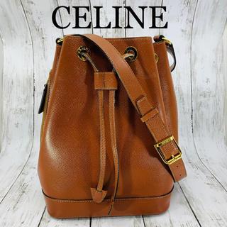 celine - 美品 CELINE セリーヌ 巾着レザー ショルダーバッグ