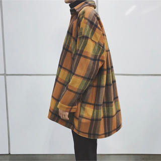 メンズ 黄 イエロー チェックシャツ (シャツ)
