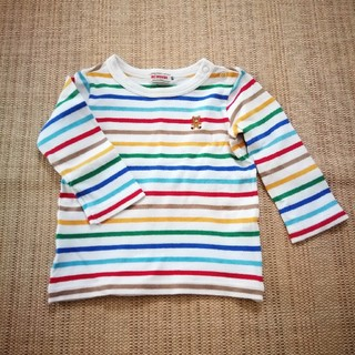 mikihouse - ミキハウス 長袖Tシャツ ロンT 80cm ボーダー MIKIHOUSE