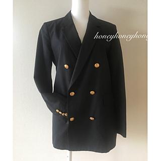 TOMORROWLAND - 【トゥモローランド】テーラードジャケット  ネイビー ブラック 36サイズ